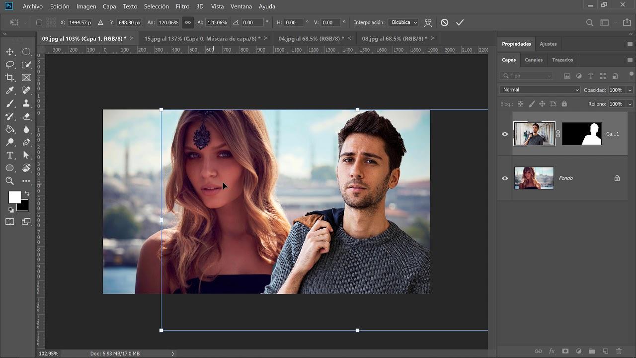 Cómo agregar una persona a una Fotografía en Photoshop - YouTube
