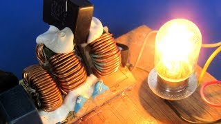Free energy electricity generator light bulb 220 Volts - Experiment project at Home