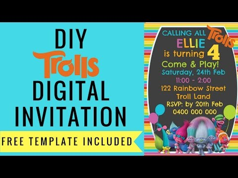 How To Make Free Trolls Digital Invitation With Picmonkey