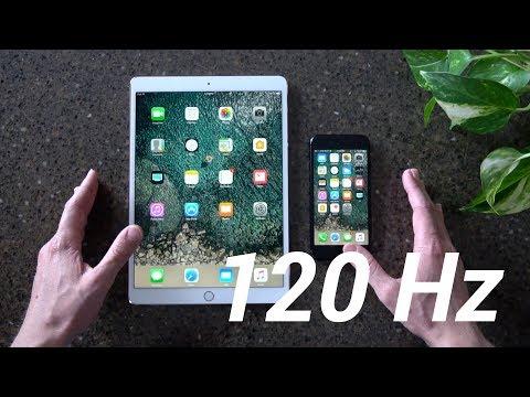 120Hz iPad Pro Display vs 60Hz iPhone 7 Display! (ProMotion)