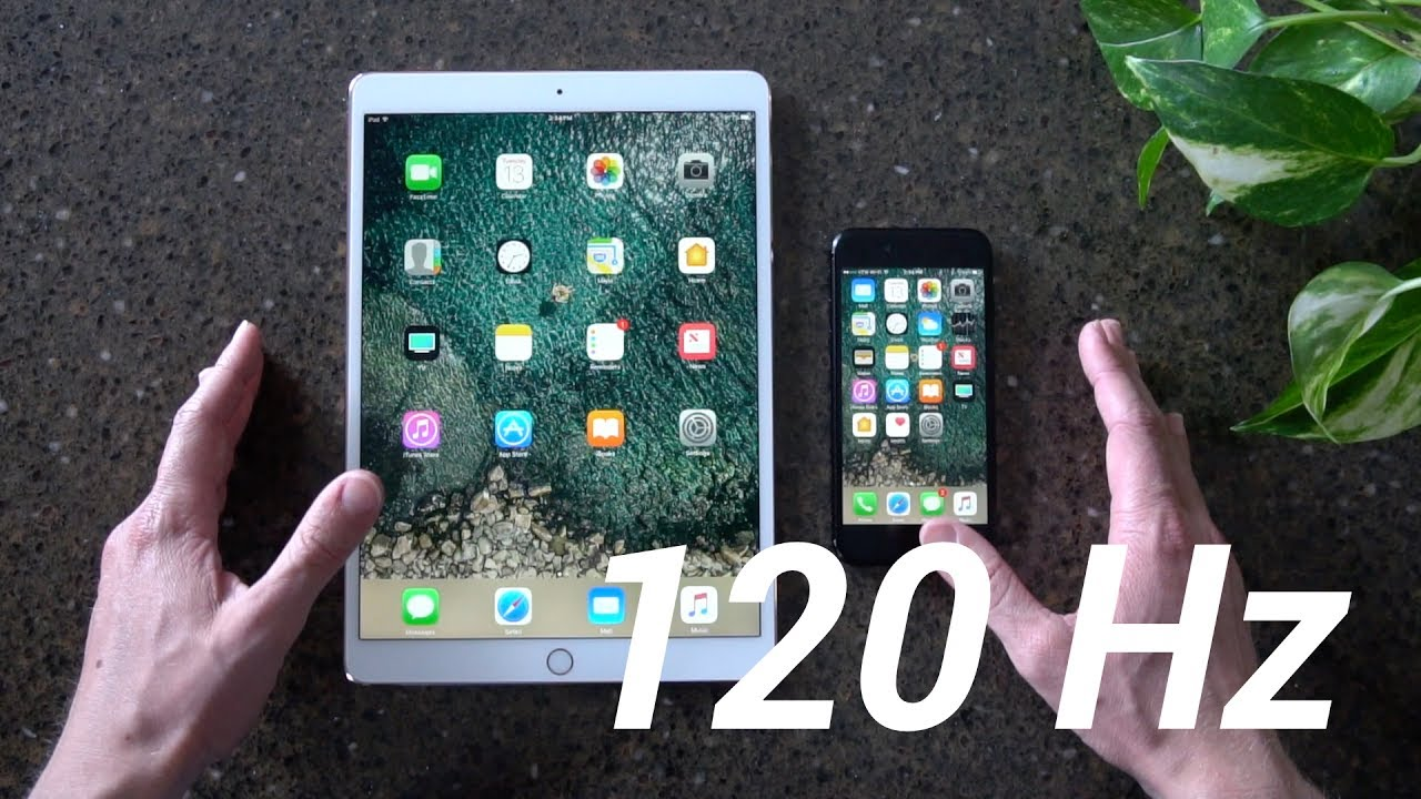 120Hz iPad Pro Display vs 60Hz iPhone 7 Display! (ProMotion)