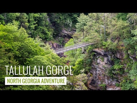 Tallulah Gorge State Park: hiking to stunning views and thundering waterfalls in North Georgia