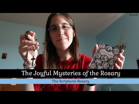 Joyful Mysteries Scriptural Rosary - Monday and Saturday - Bilingual English & Latin