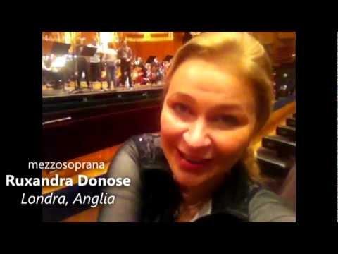Mezzosoprana Ruxandra Donose - mesaj de felicitare pentru Opera Naţională Română Iaşi