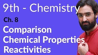 Comparison Chemical properties Reactivities - Chemistry Ch 8 Chemical Reactivity - 9th