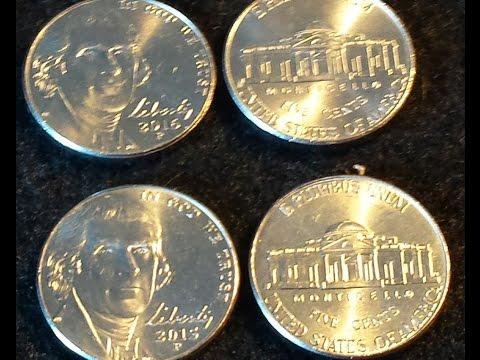 NEW FOUND ERRORS; 2015P & 2016P Jefferson Nickel...VALUABLE INFO