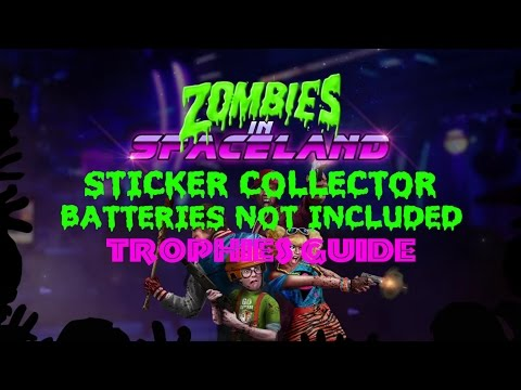 COD® IW Zombies In Spaceland Sticker Collector/Batteries Not Included Trophies Guide
