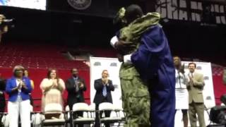 Tuscaloosa Military Mom Surprises Son at High School Graduation thumbnail