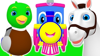 Kids Animal Train   Learn Counting Numbers & Sing Colors Songs for Children   Teach ABCs & 123s
