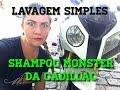 Lavagem simples de moto com foam gun e Monster da Cadillac