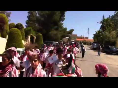 "Cambridge High School students  in Amman Jordan celebrate the ""Independence Day"""