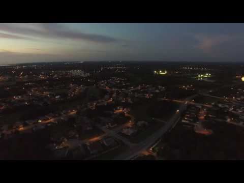 Phantom 3 Flying over Hudson, FL during Twilight Hour