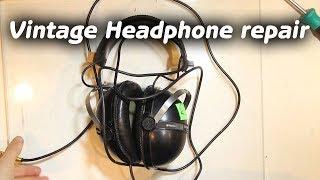 Vintage Pioneer Headphones Restoration