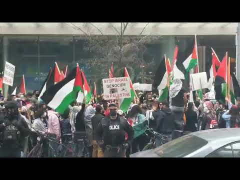 Anti-Israel Protest at Israeli Consulate In Toronto