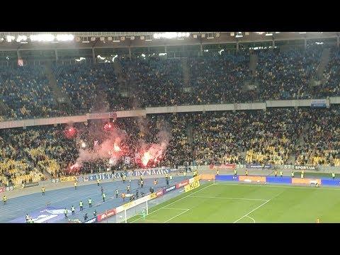 Реакция трибун на победный гол в матче Динамо Киев - Шахтер