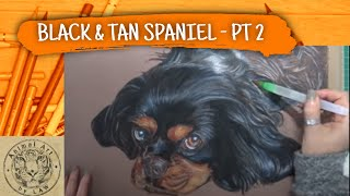 How to create a Watercolour Pencil Underpainting in a dog portrait