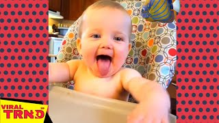 Try Not To Laugh: Funny Baby Sticking Tongue Out   Funny Babies Viral TRND