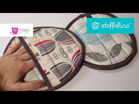 Verlosung & runde Topflappen nähen Stoffolino – DIY Eule