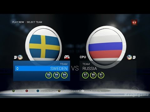 NHL 16 Gameplay - Sweden VS Russia - Full Game [ HD ]