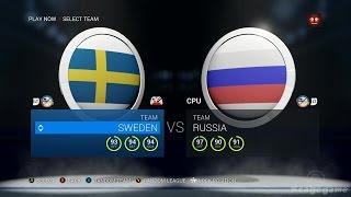 NHL 16 Gameplay - Sweden VS Russia - Full Game [ HD ]