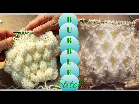 3D Bubble Knit | Bobble Knitted Stitch
