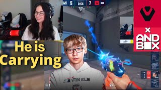 Kyedae Reacts To Tęnz Carrying Sentinels Vs AndBox - Highlights | VCT STAGE 2 NA