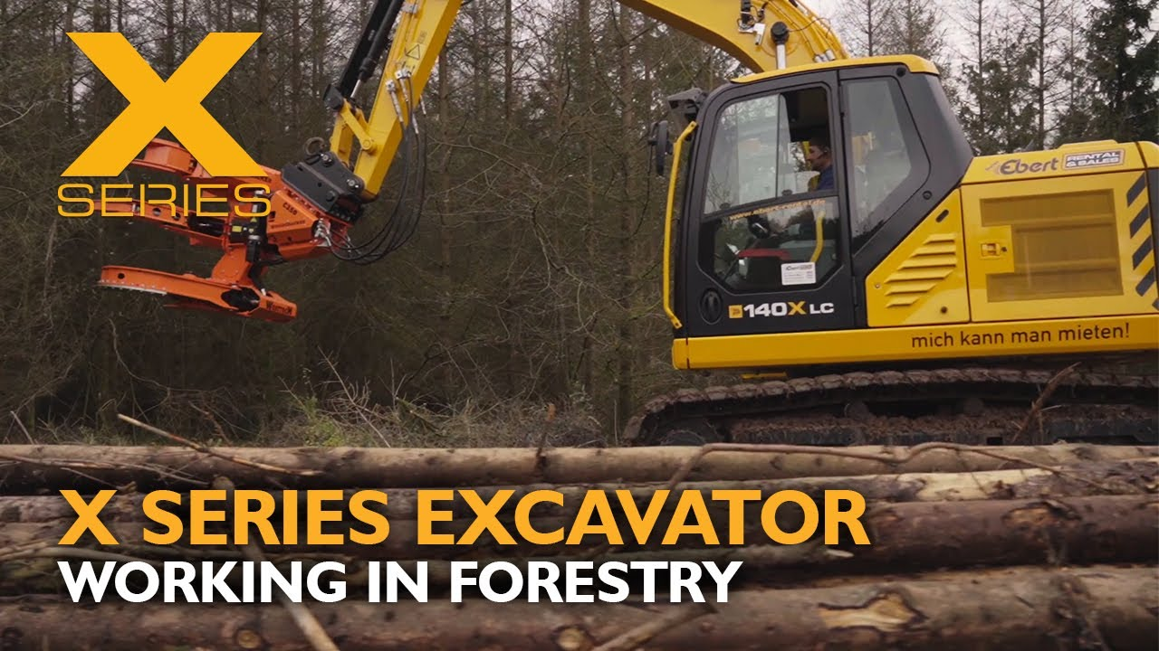 JCB 140X Tracked X-Series Excavator Working in Forestry