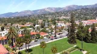 Santa Barbara Courthouse 360 View from The Top...