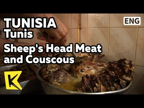 【K】Tunisia Travel-Tunis[튀니지 여행-튀니스]양머리 고기와 쿠스쿠스/Sheep's Head Meat and Couscous/Food/Restaurant/Stew