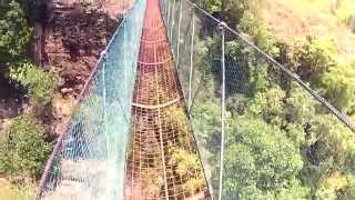 Crossing The Hanging Bridge