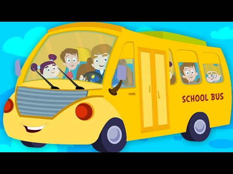 The Wheels On The Bus Go Round And Round | Nursery Rhymes And Kids Songs | Baby Cartoon Videos