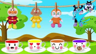 Learning the color Character Kamame Don Curry Sushi Mami Animation for children