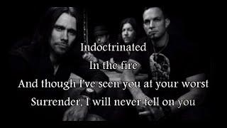 Alter Bridge - Indoctrination (lyrics on screen)