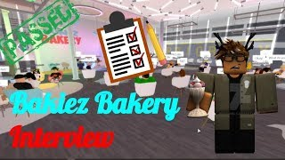 Bakiez Bakery Interview | PASSED | ROBLOX!