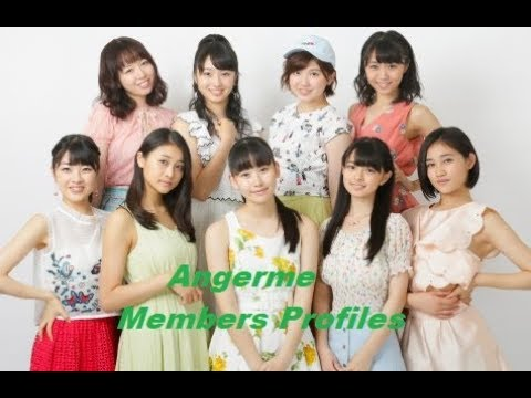 Angerme Members Profiles - YouTube