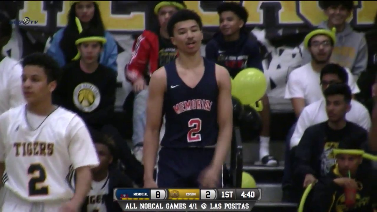 0958b78c334b San Joaquin Memorial vs Edison (Fresno) High School Boys Basketball LIVE  1 30 18