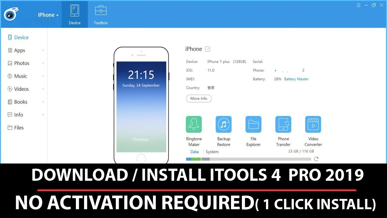ITOOLS 4 PRO 2019 VERSION [Crack + License Key] (No Need) Free
