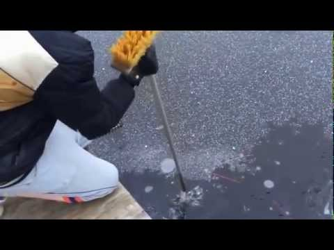 Funny Firework Experiment - We Broke Frozen Ice on Pool with Crazy Firework in Water.