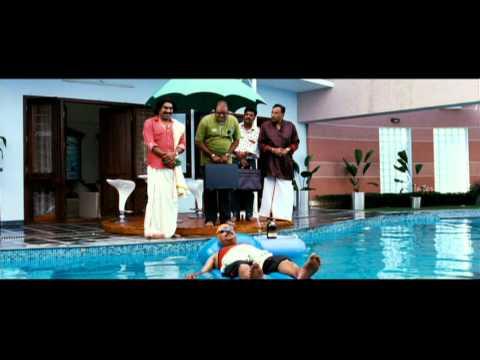 Padmasree Bharat Dr. Saroj Kumar Malayalam Movie | Sreenivasan in Swimming Pool | 1080P HD