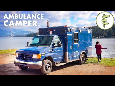 Woman Living in Her Off-Grid Ambulance Camper Conversion | FULL-TIME VAN LIFE