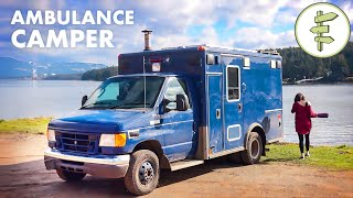 Woman Living in Hęr Off-Grid Ambulance Camper Conversion | FULL-TIME VAN LIFE