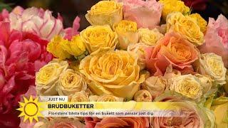 Floristens bästa tips för den perfekta brudbuketten - Nyhetsmorgon (TV4)