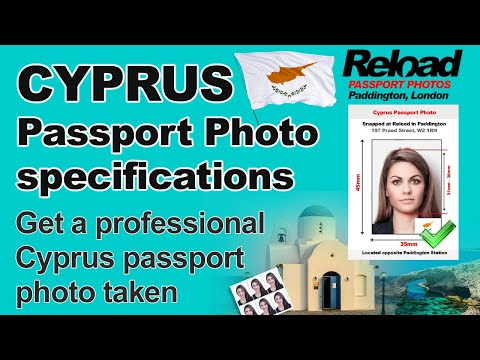 Get your Cyprus Passport Photo and Visa Photo snapped in Paddington, London