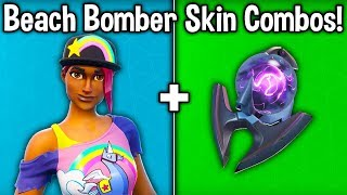 "20 MEILLEURS ""BEACH BOMBER"" SKIN - BACKBLING COMBOS! (Fortnite New Best Skin?)"