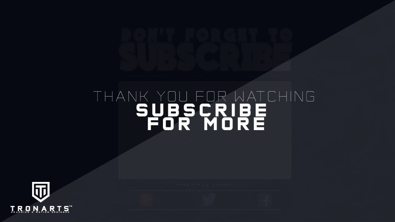 Free 2d outro 5 sony vegas after effects template youtube for Velosofy outro