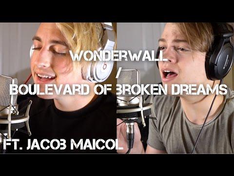 Boulevard of Broken Dreams/Wonderwall MASHUP | Jon Klaasen ft. Jacob Maicol |