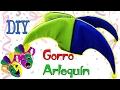 DIY Gorro de Arlequín para disfraz - Bufón - Ecobrisa DIY