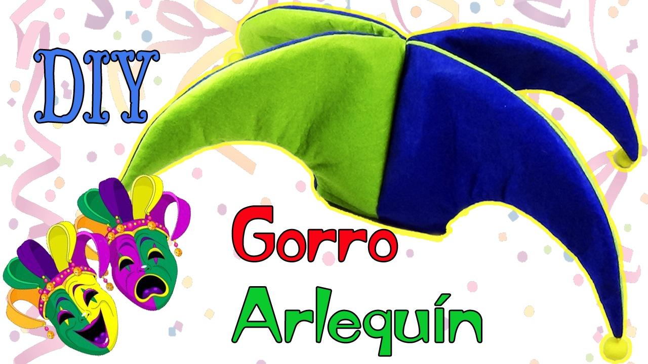 DIY Gorro de Arlequín para disfraz - Bufón - Ecobrisa DIY - YouTube 25aff10407d
