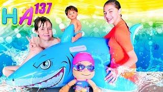 Hayal Ailesi ile Shark klibi izle ve bebek şarkısı söyle! Çocuk videosu