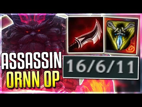 ASSASSIN ORNN IS BROKEN?! Mid Ornn Gameplay - League of Legends
